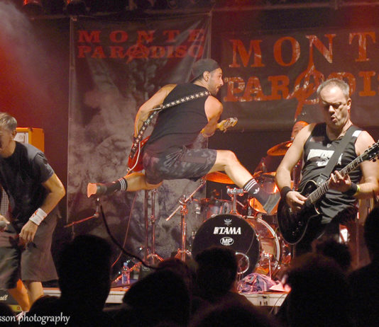 Picture of the hardcore punk band Raw Power from Italy in concert taken by David Gasson