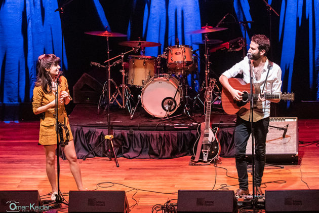 Picture of the band Lola Marsh in concert taken by Omer Keidar