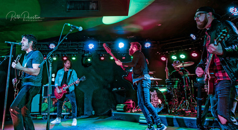 Picture of the rock band Red Sun Rising in concert taken by Ruth Preston