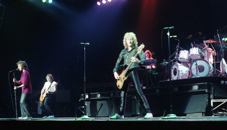 Picture of Foreigner in concert in 1979 in analog taken by Bill O'Leary