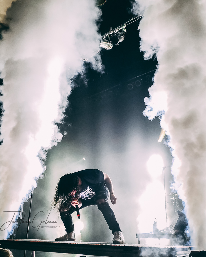 Picture of I Prevail in concert taken by Jonathan Galeano