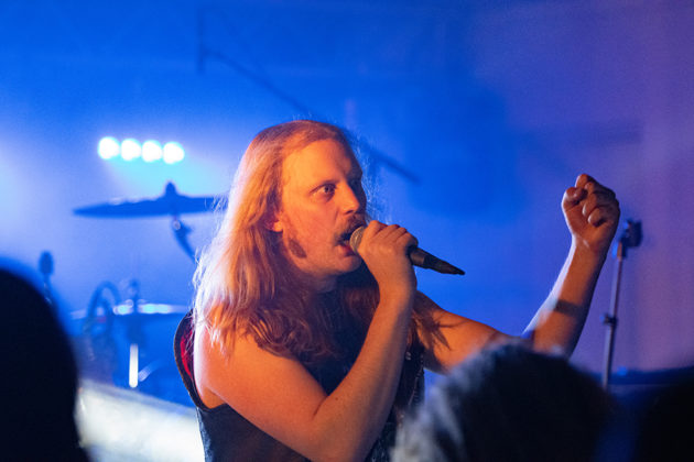 Picture of the thrash metal band Antichrist in concert taken by Lennart Håård