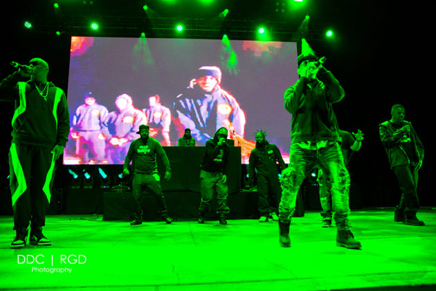 Picture of the Hip Hop / Rap group Wu-Tang Clan in concert taken by Dee Carter