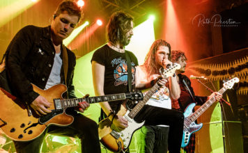 Picture of the rock band The Glorious Sons in concert taken by Ruth Preston