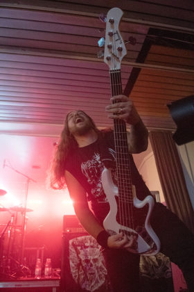 Picture of the death metal band Lik in concert taken by Lennart Håård