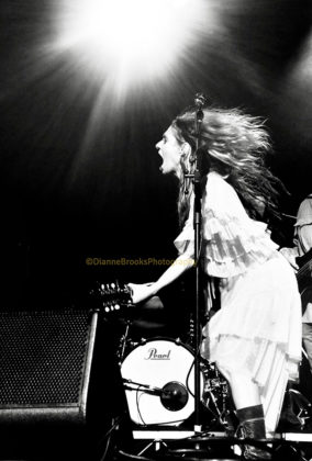 Picture of Kasey Chambers in concert taken by Dianne Brooks