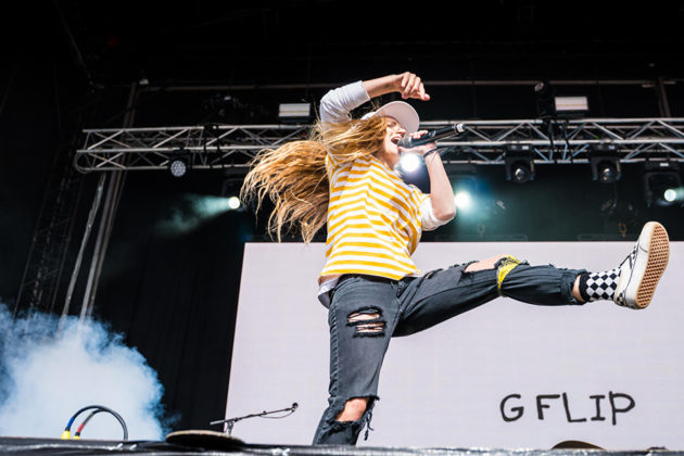 Picture of GFlip in concert taken by Brittany Long