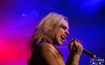 Picture of the sleaze metal band Crashdïet in concert taken by Lennart Håård