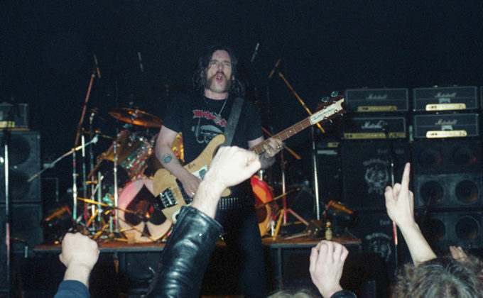 Picture of the heavy metal band Motörhead taken on the Ace of Spades tour in 1981 by Bill O'Leary