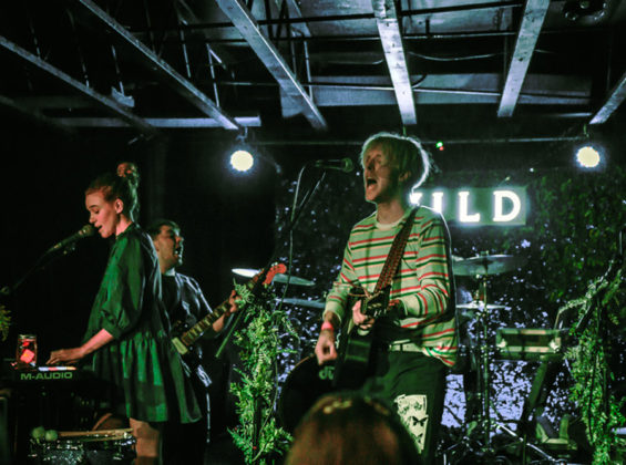 Picture of the indie pop band Wild in concert taken by Jennifer Mullins