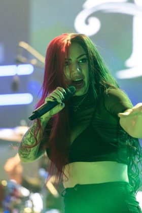 Picture of the rock band New Years Day in concert taken by Lennart Håård