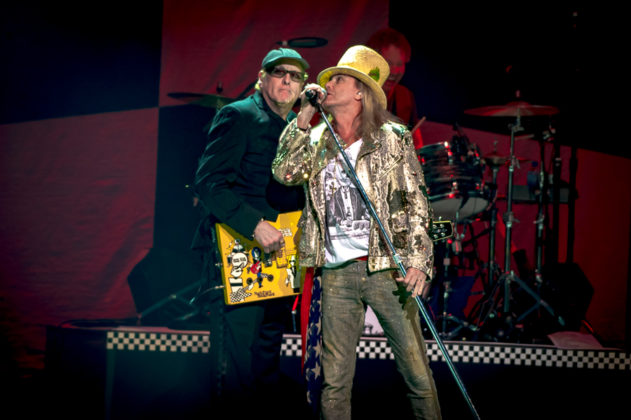 Picture of the rock band Cheap Trick in concert taken by Orest Dorosh