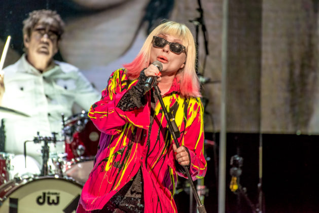 Picture of Debbie Harry in concert taken by Orest Dorosh