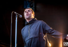 Picture of Liam Gallagher in concert taken by Deb Kloeden
