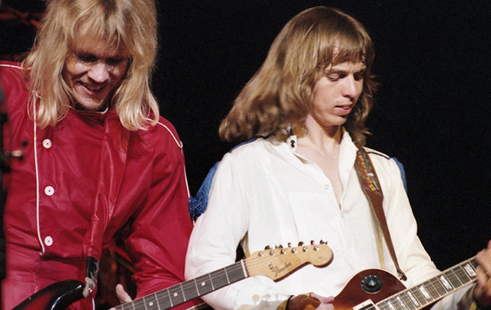 Picture of the rock band Styx in concert from 1980 tour taken by Bill O'Leary