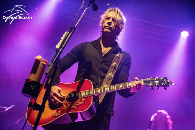 Picture of Duff McKagan in concert taken by Davide Sciaky
