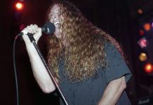 Picture of the death metal band Obituary in concert taken by Bill O'Leary
