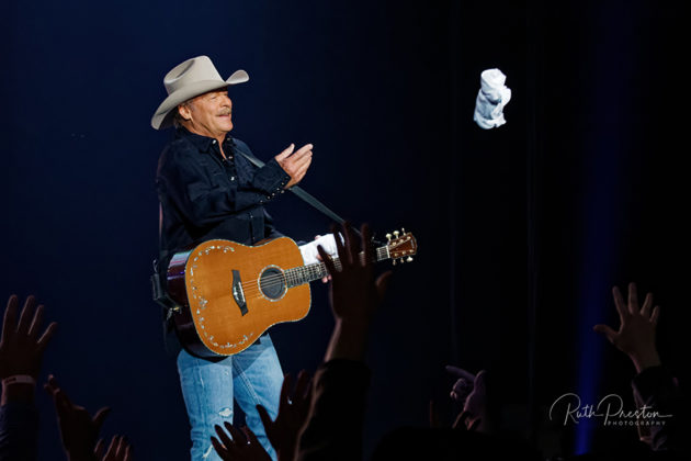 Picture of the country singer Alan Jackson in concert taken by Ruth Preston