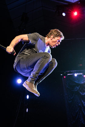 Picture of Rob Thomas in concert taken by Brittany Long