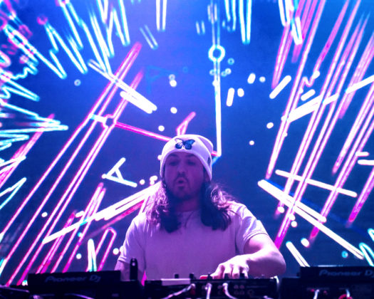 A picture of the DJ Grabbitz in concert taken by Jonathan Galeano