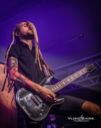 Picture of the heavy metal band Infected Rain in concert taken by Valerie Schuster