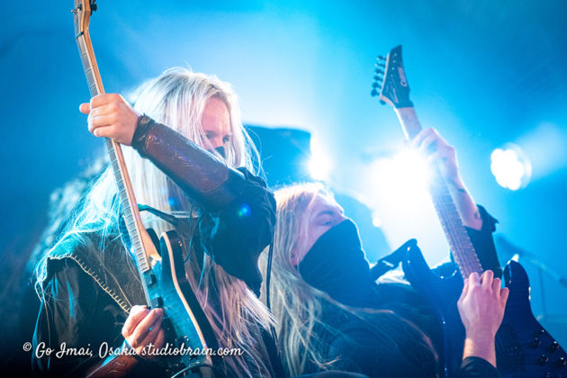Picture of the heavy metal band Twilight Force in concert taken by Go Imai