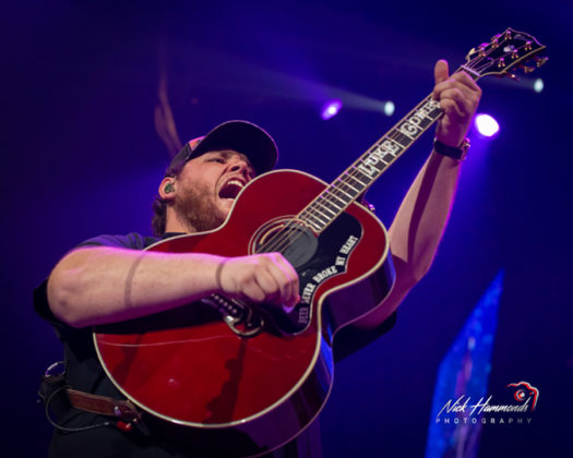 Picture of Luke Combs in concert taken by Nick Hammonds