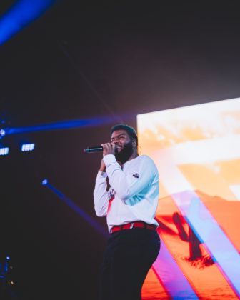 Picture of Khalid in concert taken by Jerome Silvere
