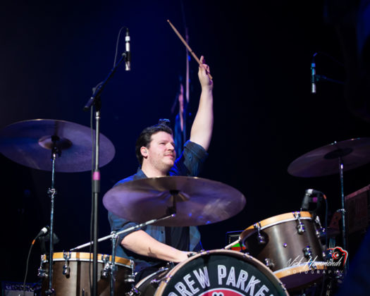Picture of Drew Parker in concert taken by Nick Hammonds