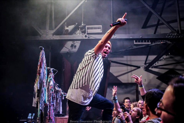 Picture of the band American Authors in concert taken by Breea Fournier
