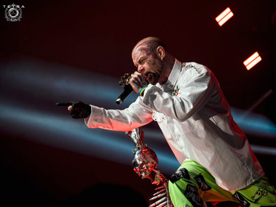 A picture of the band Five Finger Death Punch in concert taken by Emma Bauer