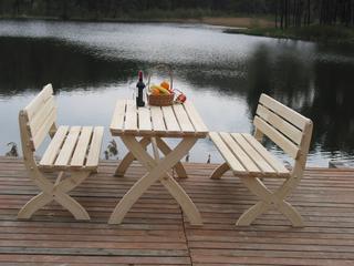 STRONG  lavice - 150 cm - PŘÍRODNÍ