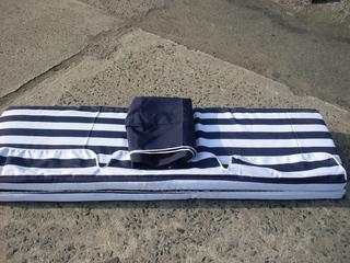 Stříška+podušky k houpačce De Luxe modrá