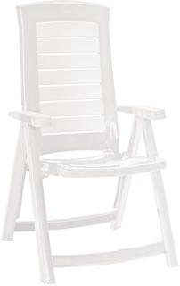 ARUBA polohovací křeslo - bílé