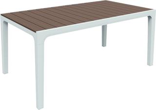 HARMONY stůl - bílá + cappuchino