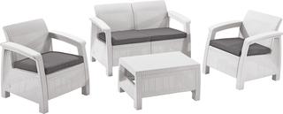 CORFU set - bílý + šedé podušky