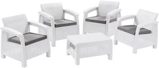 CORFU QUATRO set  - bílá + šedé podušky