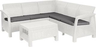 CORFU RELAX set - bílý + šedé podušky