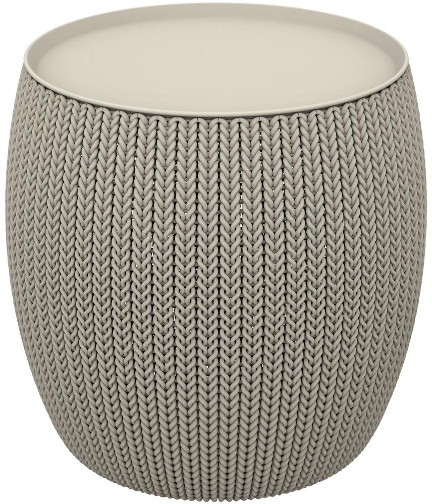 KNIT SINGLE TABLE (COZIES) stolek - pískový