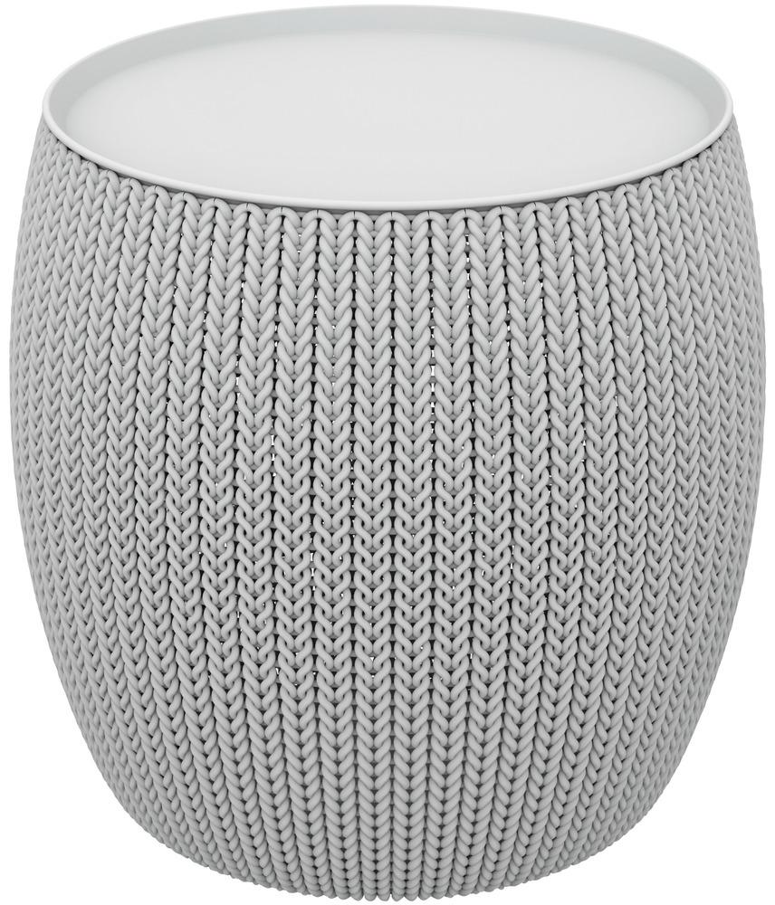 KNIT SINGLE TABLE (COZIES) stolek - šedý