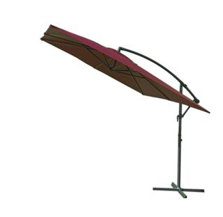Slunečník kovový 8080 - 270x270cm-  bordó