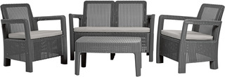 TARIFA set - sparkle grey + šedé podušky