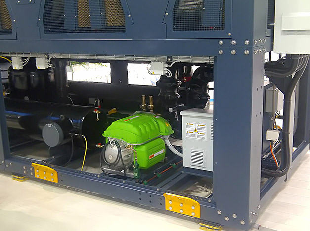 A Turbocor compressor on the new Turbomiser HFO chiller