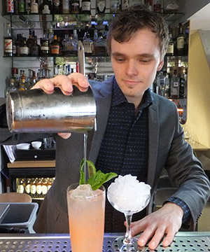 Jesper Callisen will be serving cocktails on Hoshizaki's stand at Hotelympia
