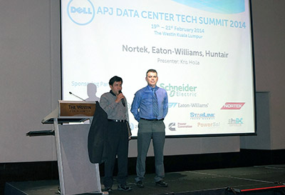 Kris Holla (left) and Mark Luxford at the Dell awards