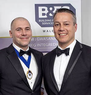 B&ES president elect Andy Sneyd (left) and B&ES Wales chairman Andy Tonkin photographed during the event at the Vale Resort