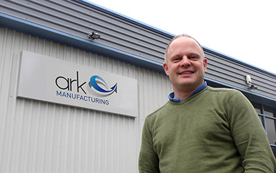 Phil Holzer outside the new Atmosphere Cooling/Ark Manufacturing