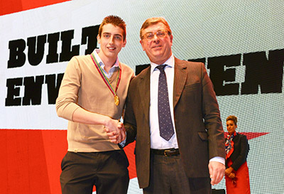 Chris Bailie receiving the gold award