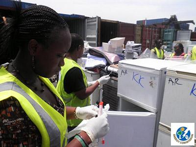 Ghana scrap fridges