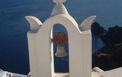Santorini - Oia - modrobíločerná perla